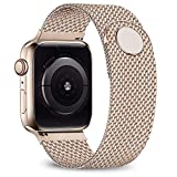 jwacct Compatible for Apple Watch Band 38mm 40mm, Adjustable Stainless Steel Mesh Wristband Sport Loop for iWatch Series 5 4 3 2 1,Bronze Gold