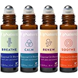 Rescue Essential Oil Rollerball Set – Ease Congestion, Anxiety & Stress Relief, Healthy Skin, Soothe Muscle - Ready to Use Roll-On, Pre-Diluted, Aromatherapy, Therapeutic Grade – Fun Stocking Stuffer!