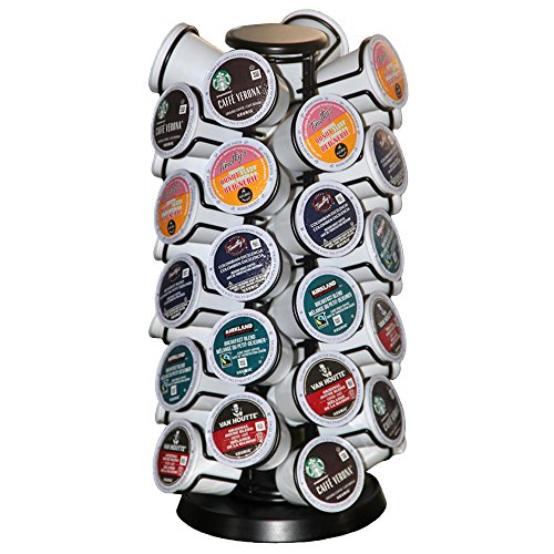 K Cup Holder,K Cup Holders,K Cups Holder,K Cup Carousel, Coffee Pods Holder Storage Organizer Stand,Comes All in One Piece,No Assembly Required,1 Count,Black (Capacity of 40 Pods)