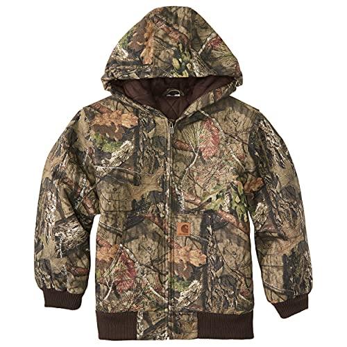 Carhartt Boys' Big Mossy Oak Camo Active Jacket, Browntree Print, Large