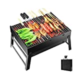 Portable Barbecue Charcoal Grill Stainless Foldable BBQ...