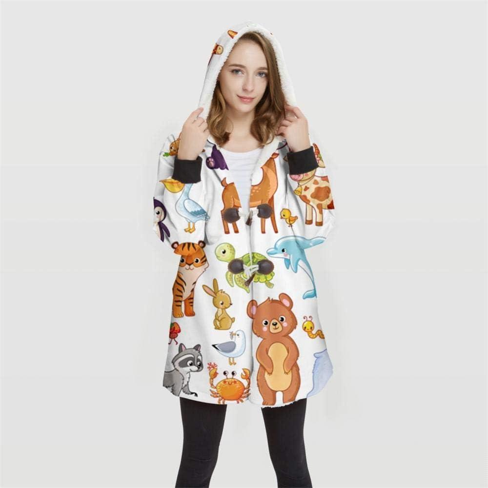3DWY Femme Plus Size Motif d'impression 3D Imprimer Vestes à Capuche Convertibles 100% Polyester Hauts Veste Souple Femme Design Client WY35 4