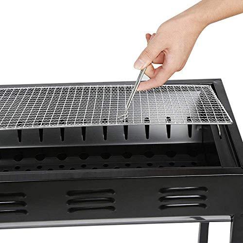 NLRHH Regale einstellbar wiederverwendbarer BBQ-Grill- und Holzkohlegrill, Antihaftbeschichtung  Ideal für BBQ- und Ofenblumentopf-Rack Peng