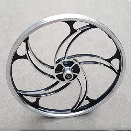 Llanta de aleación de ruta bici plegable de aluminio Set 20' freno de disco de 5 radios modificación Integrado ruedas Eje roscado central bicicletas (rueda de la rueda delantera + trasera)