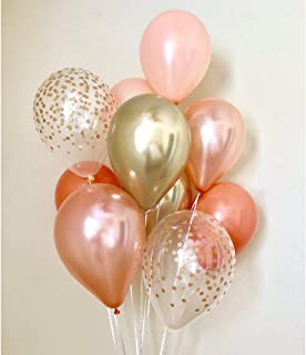 Rose Gold Balloon Bouquet - Pack of 24-11