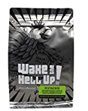 Wake The Hell Up!© Ground Coffee | Ultra-Caffeinated Pistachio Flavored Coffee in a 12-Ounce Reclosable Bag | The Perfect Balance of Higher Caffeine & Great Flavor | Roasted and Packed In-House.