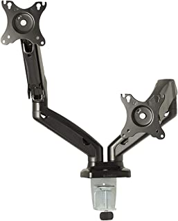 Gladiator Joe Heavy Duty Dual/Two Desktop Monitor Mount/arm VESA Compatible | Fully Adjustable articulating arm | Gas Spring | Supports Heavy Monitors | 13 to 32 inch | 17.6 lb Each arm