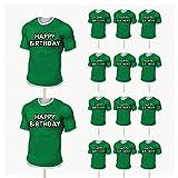 Lot de 14 décorations de gâteaux en forme de maillot de rugby d'Irlande