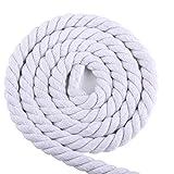 5 / 10M 6mm / 8mm / 10mm / 12mm 3 Acciones Twisted Cuerda De Algodón Cuerdas De Algodón Trenzado De Compra Hogar DIY Accesorios Textil Durable (Color : White7mmx10m)