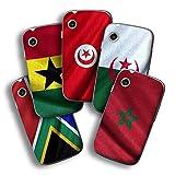 atFolix Designfolie kompatibel mit Wiko Ozzy, wähle Dein Lieblings-Design aus, Skin Aufkleber (Flaggen aus Afrika)