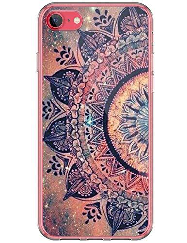 kinnter Silikon Hülle Kompatibel mit iPhone SE (2020) Handyhülle Wasserdicht Transparent Ultra Dünn TPU Bumper Stoßfest Schutzhülle Original Design für iPhone SE (2020) Tasche Cover