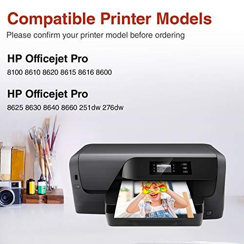 Zambrero 950XL 951XL Cartuchos de Tinta Reemplazo para HP 950 951 Compatible con HP Officejet Pro 8600 8610 8100 8615 8620 8625 8630 8640 8660 251dw 276dw (2 Negro, 2 Cian, 2 Magenta, 2 Amarillo)