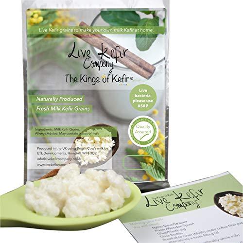 New Live Milk Kefir Grains, Our Kefir Grains are The Highest Quality.