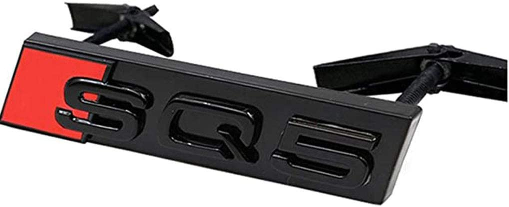 decoraci/ón del Cuerpo autom/ático Dise/ño del Logotipo para Audi SQ3 SQ5 SQ7 WNMASS Etiquetas engomadas del Metal del Emblema de la Parrilla de la Parrilla Delantera del Coche 3D