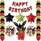 Shopama - Globos de decoración de cumpleaños para niños, fiesta temática con globos de Mylar y látex hinchables de helio, juego de 49 piezas