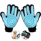 Tonsooze Haustier Handschuh, Pet Bürste Handschuh, Pet Fellpflege Handschuh Tierhaarentferner Handschuh Massage Enthaarung Handschuhbürste für Hund Katze Fellpflege (1 Paar)