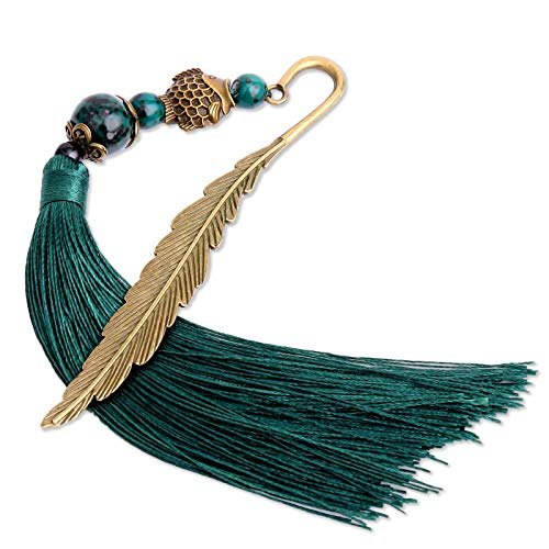 YANPLS Metal Feather Bookmark for Kids Women Book Lovers Bookmarks Tassels Book Markers for Girls