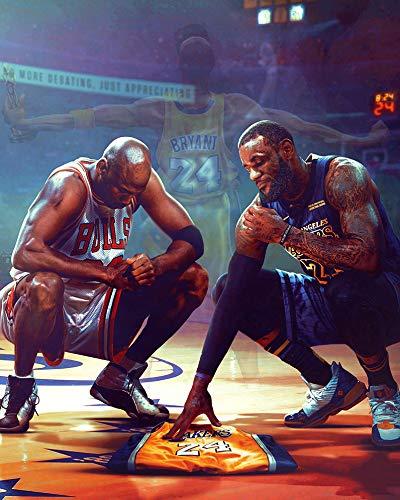 oceansEdge11 Poster Kobe Bryant Michael Jordan Lebron James, 61 x 91 cm