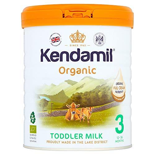 Leche de seguimiento orgánica Kendamil, Leche de Crecimiento, 12-36 meses (800g)