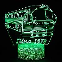 3Dイリュージョンナイトライト バスカー LED3Dキッズおもちゃベビースリープデスクランプ寝室の装飾ベッドサイドスマートタッチ7色変化する調光可能、女の子の男の子のための最高のおもちゃの誕生日