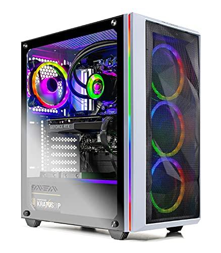 SkyTech Chronos Gaming Computer PC Desktop - AMD Ryzen 5 5600X 3.7GHz, RTX 3070 Ti 8G, 1TB Gen4 NVMe...
