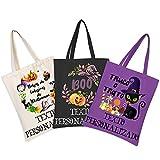 Happy Muse Bolsas de Golosinas de Halloween Personalizadas, Bolsa de Dulces para Trucos o Golosinas, Reutilizables para Regalos, Compras de Comestibles, Calabaza, Fantasmas, Regalos de Otoño