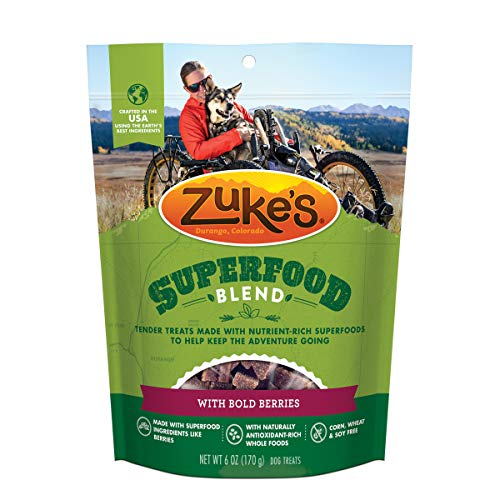 Zuke's SuperFood Blend Natural Dog Treats With Bold Berries - 6.0 oz Bag