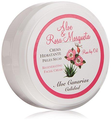 Aloe Canarias 200030 - Crema de aloe vera y rosa mosqueta regeneradora para pieles secas