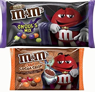 Catch The Best Halloween With Best Treats! Limited Store Exclusive Creepy Cocoa Crisp M&M's (1 X 8 OZ) + Limited Edition Milk Chocolate Ghouls Mix M&M's (1 X 11.4 OZ) 2 Pack Of Limited Edition Fun!