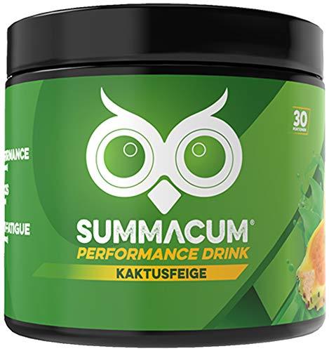 SUMMACUM Konzentrationsbooster mit 200mg Koffein. 30 Portionen Kaktusfeige. Mit Acetyl-L-Carnitin, CDP-Cholin-Cognizin und grünem Tee