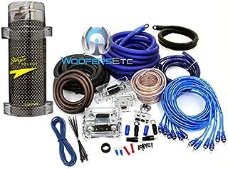 pkg Stinger 5 Farad Digital Power Capacitor and Power Pro 0 +4 Gauge 8500W 3 RCA Installation Kit