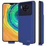zukabmw Coque Batterie pour Huawei Mate 30 Pro, 7000mAh Étui de Charge de Batterie Rechargeable à Adsorption Magnétique Chargeur Externe Rechargeable Puissante Power Bank - Bleu foncé