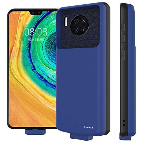 zukabmw Akku Hülle für Huawei Mate 30 Pro, 7000mAh Magnetische Adsorption Akku Case Zusatzakku Schutzhülle Wiederaufladen Leistungsstarke Ladebatterie Powerbank für Huawei Mate 30 Pro, Dunkelblau