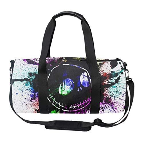Nightmare Before Christmas Gym Bag with Shoe Compartment Men Duffel Bag for Sports, Gym, Overnight and Weekend Getaway Travel Bag