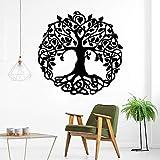 Estilo de dibujos animados pegatinas de árboles habitación de los niños decoración natural pegatinas de pared de fondo pegatinas de arte de pared A6 57x57cm