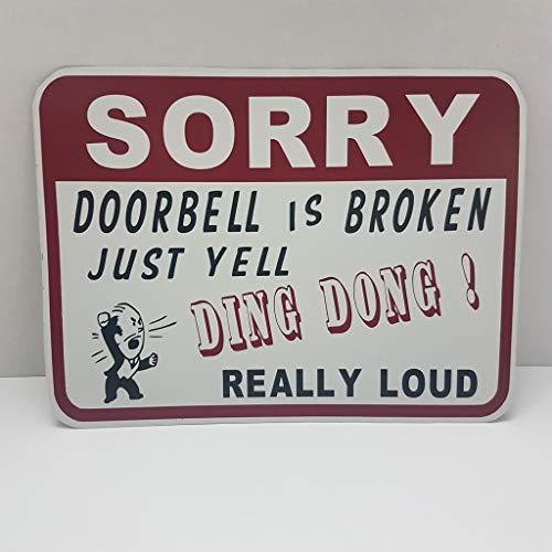 Sorry deurbel is gebroken grappig teken