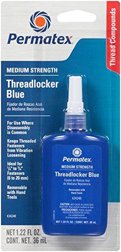 Permatex 24240-6PK Medium Strength Threadlocker Blue, 36 ml (Pack of 6)