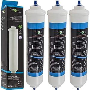 FilterLogic FFL-191X   Paquete de 3 - Filtro de agua frigorífico compatible con HAIER 0060823485A Cartucho para refrigerador nevera HRF-628A HRF-628I HRF-630A HRF-630I HRF-522I HRF-665I HB22FWRSSAA
