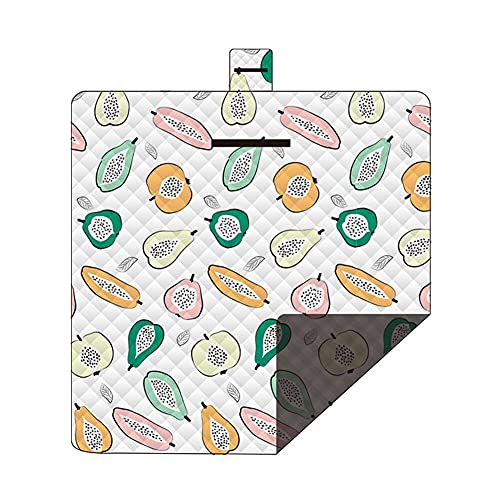 yijun outdoor product Outdoor Picnic Mat Waterproof Machine Washable Moisture-proof Beach Mat Foldable Camping Mat (Color : Pawpaw, Size : 2 * 2m)