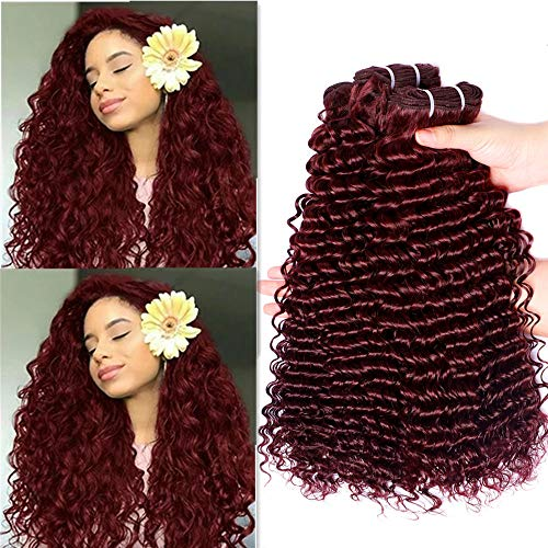 Red curly weave