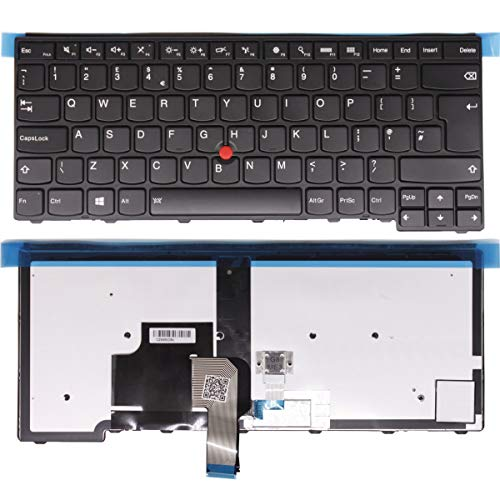 Wikiparts* Backlight/Backlit Replacement Keyboard For IBM Lenovo ThinkPad T450 T450S T460 UK Layout Laptop Keyboard
