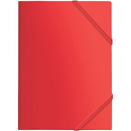 Dohe 90601 - Carpeta Polipropileno, goma plana, color rojo