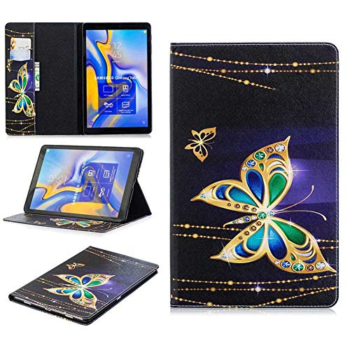 GHC Pad Fundas & Covers para Samsung Galaxy Tab A 10.1 T580 Tab A 8.0 T380 T350, Tapa de Tableta de Flip a Prueba de choques de impresión de Mariposa Colorida para Samsung Galaxy Tab A 10.1
