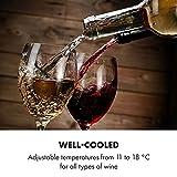 Klarstein Bellevin Uno Weinkühlschrank, Temperatur: 11-18 °C, Geräuscharm: 26 dB, 3 Metallregalebenen, LED-Beleuchtung, UV-Schutz, Weinkühler, Freistehend/Counter Top, 23 Liter / 8 Flaschen, Schwarz - 6