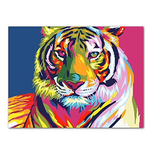 llwei258 DIY olieverfschilderij door nummers Acryl tekening op canvas Home Office Decor Gift
