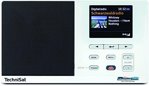 TechniSat Digitradio 215 Schwarzwaldradio Edition - DAB Radio (DAB+, UKW, Farbdisplay, Schwarzwaldradio-Taste, Wecker, Favoritenspeicher, Kopfhöreranschluss, Netz- & Batteriebetrieb) weiß