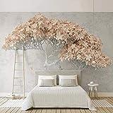 VGFGI Papel pintado autoadhesivo de PVC Mural 3D flor abstracta árbol interior restaurante pegatina impermeable decoración del hogar papel tapiz