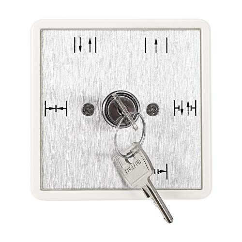Puertas automáticas Interruptor de llave de 5 posiciones, normalmente cerrado/automático/unidireccional/medio abierto/normalmente abierto Apertura de puerta de emergencia para panel de control de acce