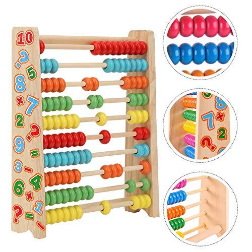 Sunshine smile Rechenschieber Abakus Holzspielzeug Baby Montessori Spielzeug Mathematik mit 100 Holzperlen Kinderspielzeug Motorikspielzeug Lernspielzeug Geschenke für Kinder
