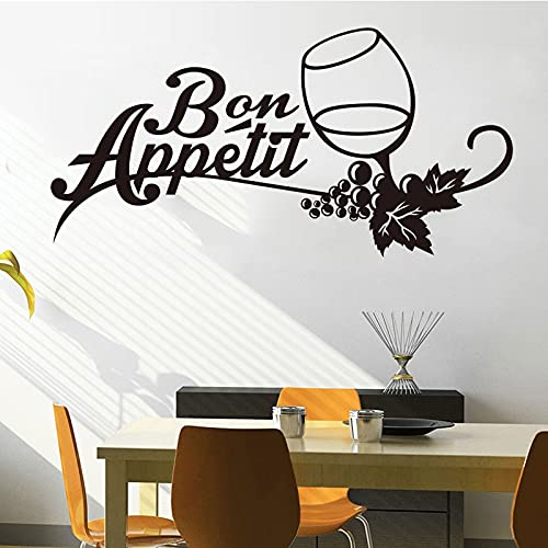 Cocina francesa vinilo pegatinas de pared calcomanías murales arte copa de vino papel tapiz cocina tatuajes de pared decoración del hogar A1 33x60cm
